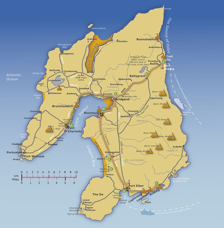 Islay Scotland Map.Bruichladdich Taxis Home